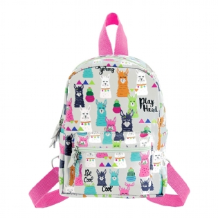MINI MOCHILA ESTAMPADA MOOD LHAMA MME016
