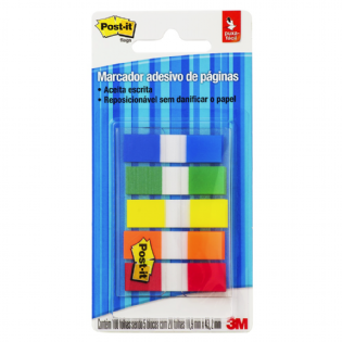 POST IT 3M FLAGS 5 CORES CM0410