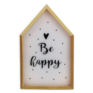 CAIXA LUMINOSA LIGHT BOX BE HAPPY
