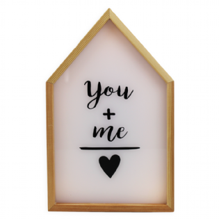 CAIXA LUMINOSA LIGHT BOX YOU ME