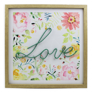 QUADRO DECORATIVO 40X40 LOVE XCM177395J