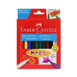 CANETINHA FABER CASTELL 10 CORES+2 MAGIC
