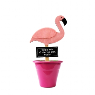 MINI VASO DECORATIVO FLAMINGO 4929