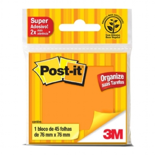 POST IT 3M 654 76X76 LARANJA C/45 FLS