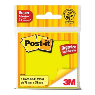 POST IT 3M 654 76X76 VERDE C/45 FLS