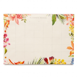BLOCO PLANNER MENSAL FLORESTA TROPICAL