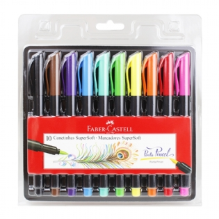 KIT MARCADOR PINCEL BRUSH FABER CASTELL
