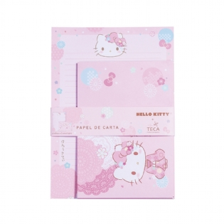 PAPEL DE CARTA HELLO KITTY SAKURA