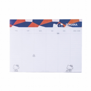 BLOCO PLANNER SEMANAL HELLO KITTY CUTE