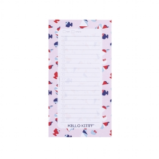 BLOCO CHECKLIST HELLO KITTY CUTE