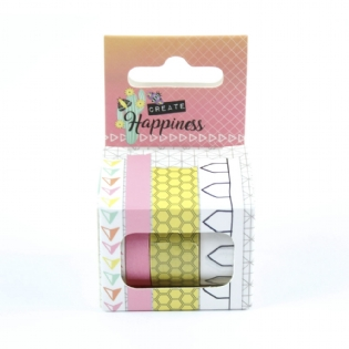 Fita Washi Tape Decorativa Colmeia