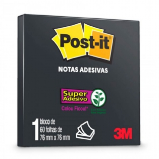 POST IT 3M 654 76X76 PRETO C/60 FLS