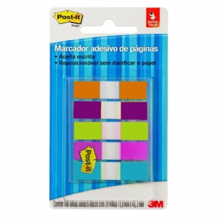 POST IT 3M FLAGS 5 CORES NEON