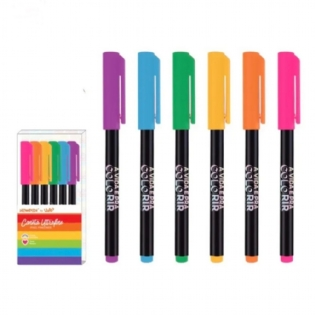 KIT CANETA NEWPEN FINELINER NEON BY UATT