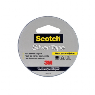 Fita Scotch 3m Silver Tape Cinza 45mmx5m