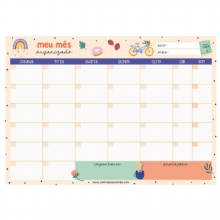 Bloco Planner Mensal Happy Time